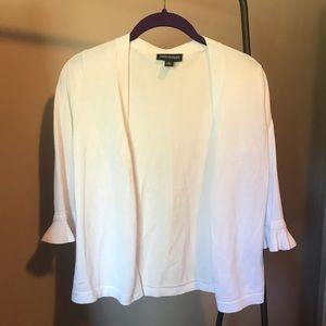 NINA LEONARD white cardigan